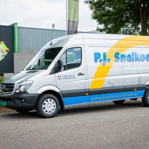 Busbelettering Mercedes Sprinter - PJ Snelkoeriers, Neeritter
