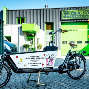 Belettering bakfiets - EHS Communications, Weert