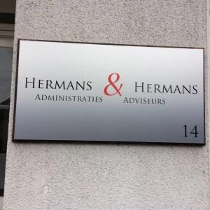 Gevelbord - Hermans & Hermans, Weert