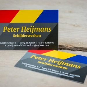Visitekaartje - Peter Heijmans Schilderwerken, Weert