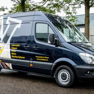 Busbelettering Mercedes Sprinter - Wullems constructie & plaatwerken, Weert