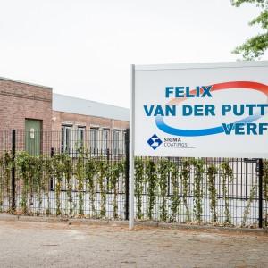 Reclamebord - Felix van der Putten verf, Weert