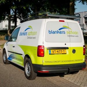 Autobelettering VW Caddy - Blankers Schoon, Weert