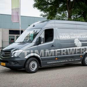 Bus belettering Mercedes Sprinter -Timmer en onderhoudsbedrijf Hans van Wilgenburg, Weert