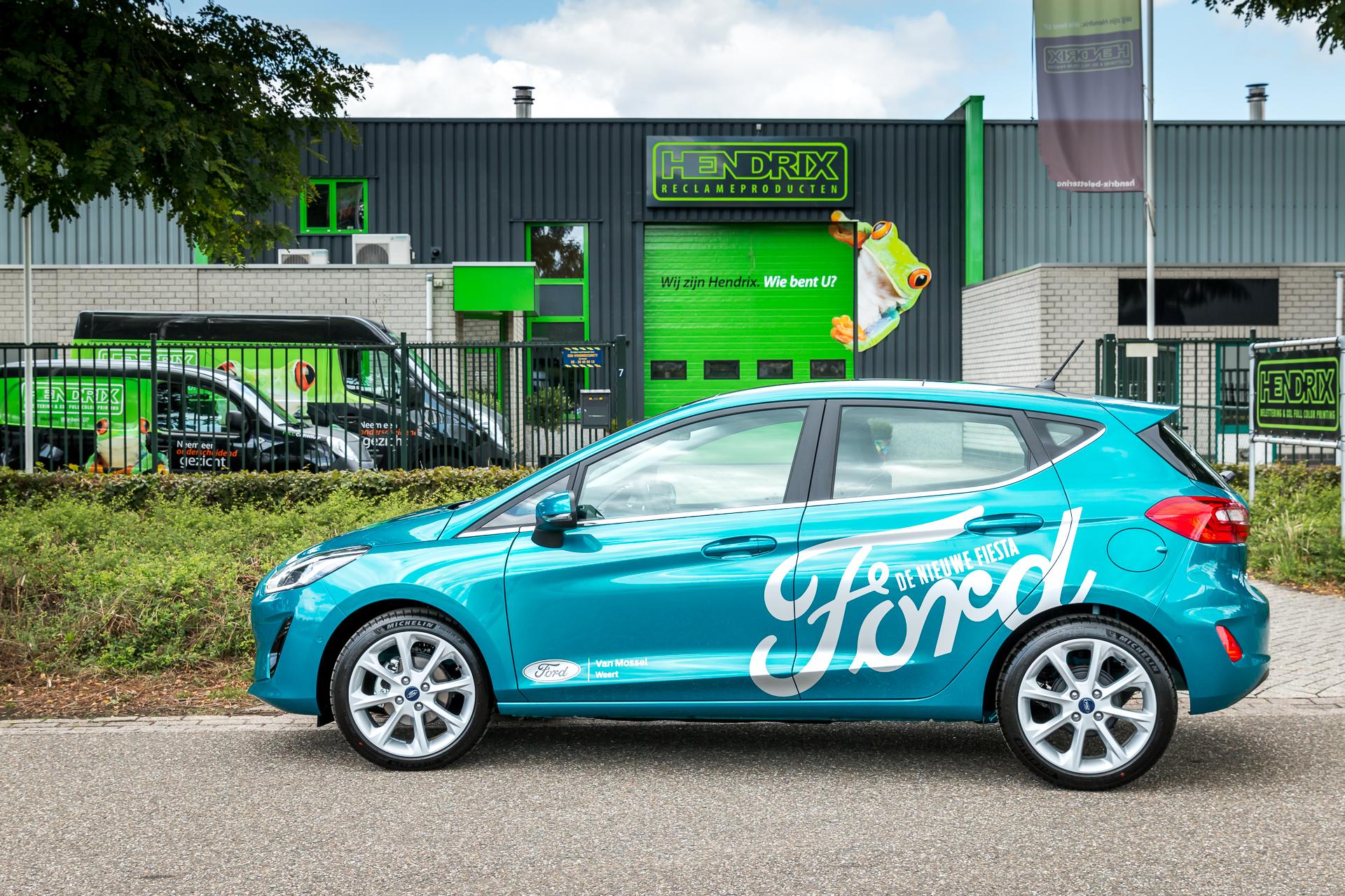 Personen auto belettering - Van Mossel Ford, Weert