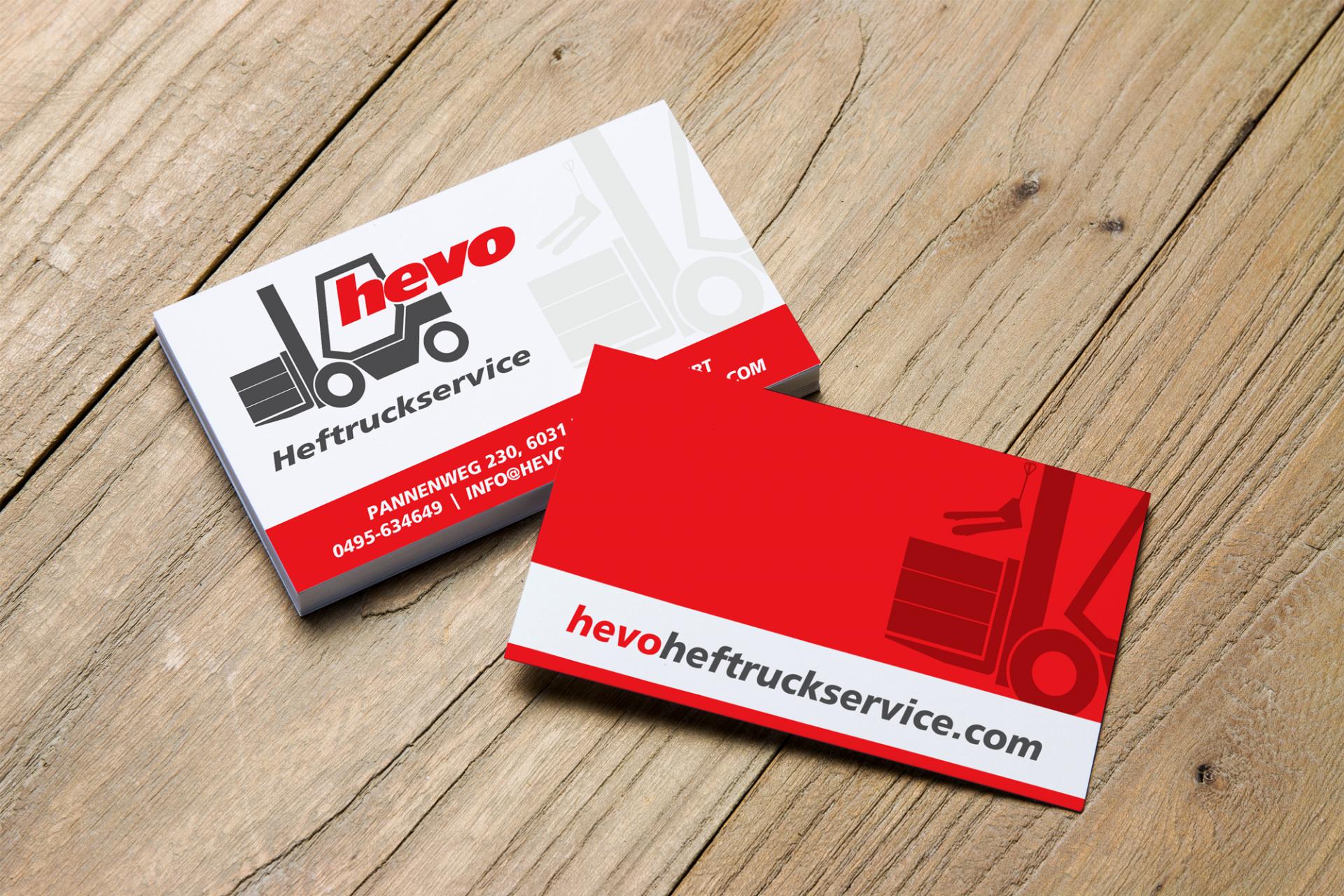 Visitekaartje - Hevo Heftruckservice, Nederweert