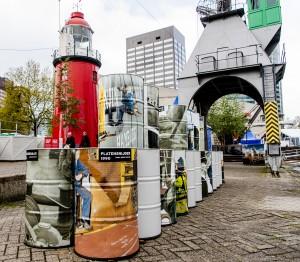 Olievat belettering - Maritiem Museum, Rotterdam