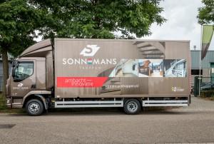 Vrachtwagen belettering - Sonnemans Trappen, Meijel