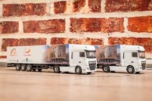 Belettering van model vrachtwagen - Gemeente Weert