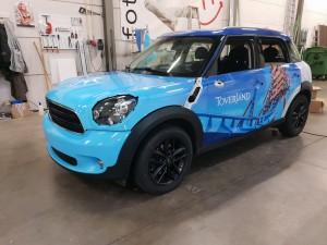 Toverland mini car wrap